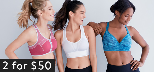 Woman wearing a sports bra showing our new vibrant colors