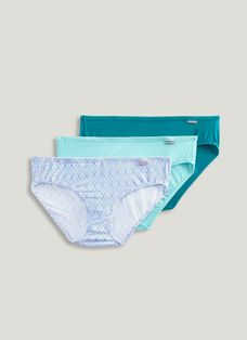 NWT Jockey Women Elance Cotton Classic Fit Briefs Teal Pink Tan Floral Size 8,9