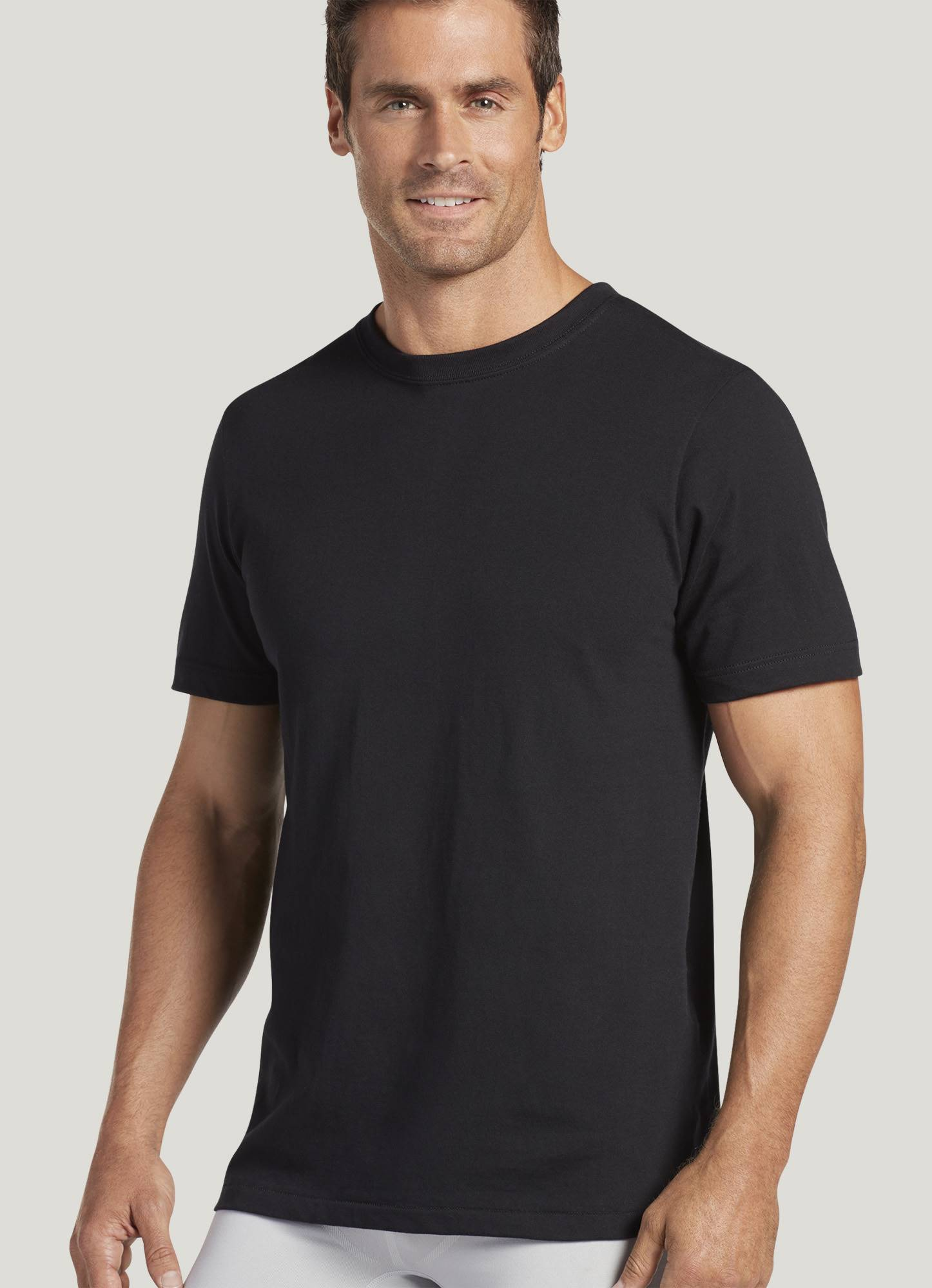 Black t shirt round neck - Hover To Zoom
