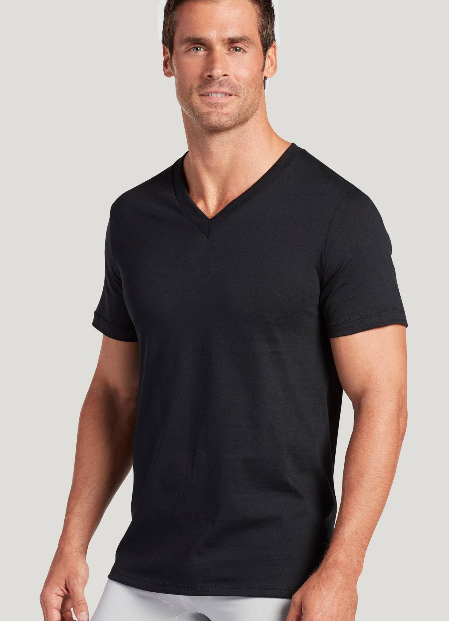 Black t shirts v neck - 1