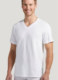 113fb03e V-Neck T-Shirts for Men | Cotton V-Neck Undershirts, Classic V-Necks