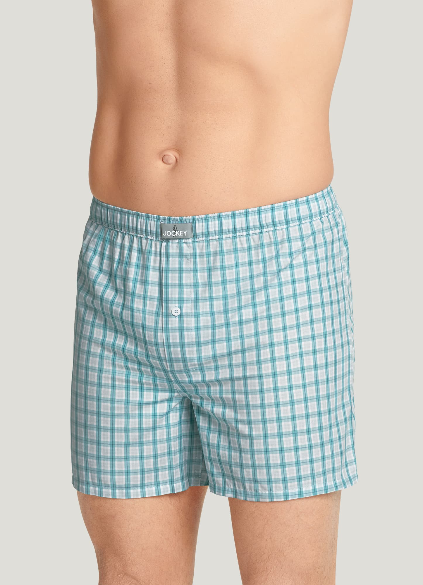 X-Large Blue Plaid Jenni Plaid Boxer Pajama Shorts